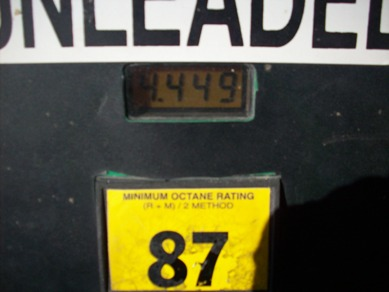 Regular gas: $4.44.9 per gallon