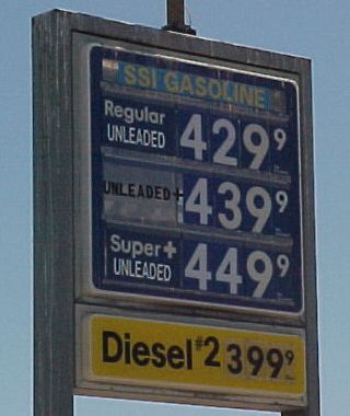 Regular gas: $4.29.9 per gallon